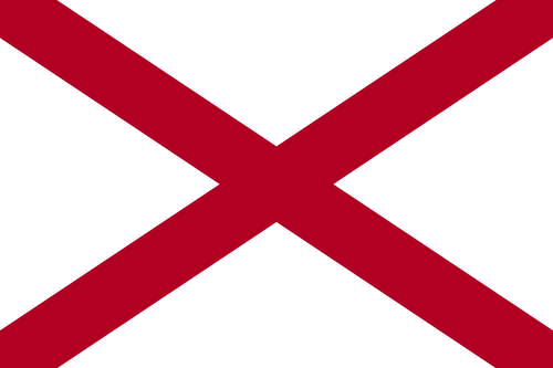 Vector flag of Alabama