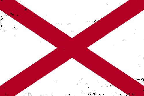 Vector flag of Alabama - Grunge