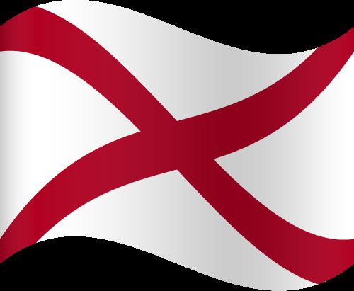 Vector flag of Alabama - Waving