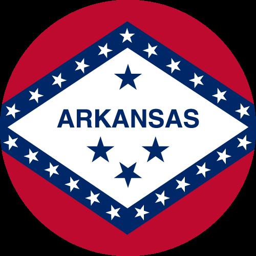 Vector flag of Arkansas - Circle