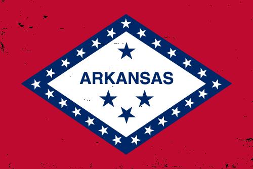 Vector flag of Arkansas - Grunge