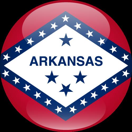 Vector flag of Arkansas - Sphere