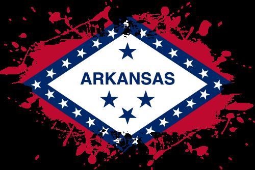 Vector flag of Arkansas - Ink Splat