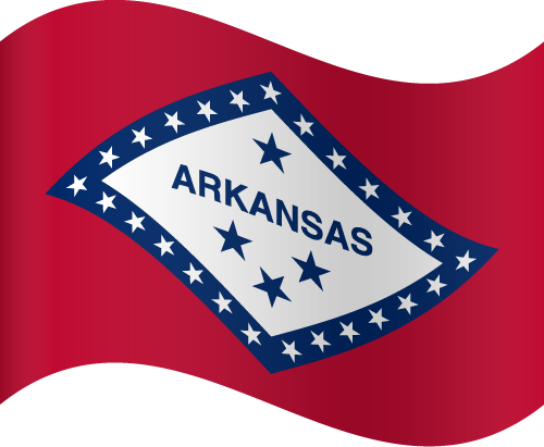 Vector flag of Arkansas - Waving