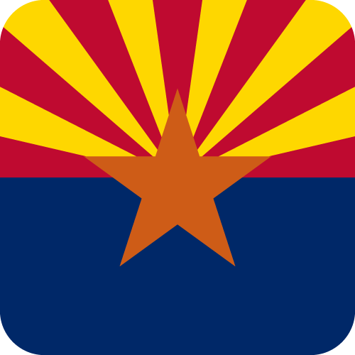 Vector flag of Arizona - Button