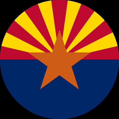 Vector flag of Arizona - Circle