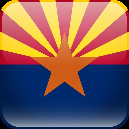 Vector flag of Arizona - Cube