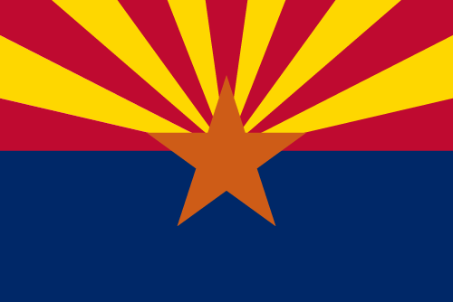 Vector flag of Arizona