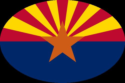 Vector flag of Arizona - Oval
