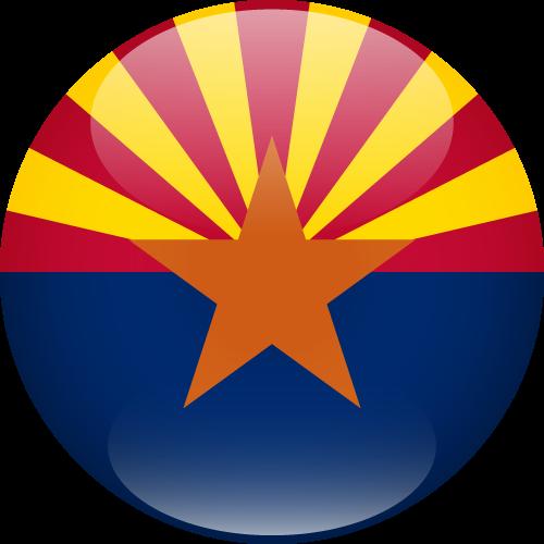 Vector flag of Arizona - Sphere