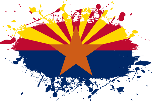 Vector flag of Arizona - Ink Splat