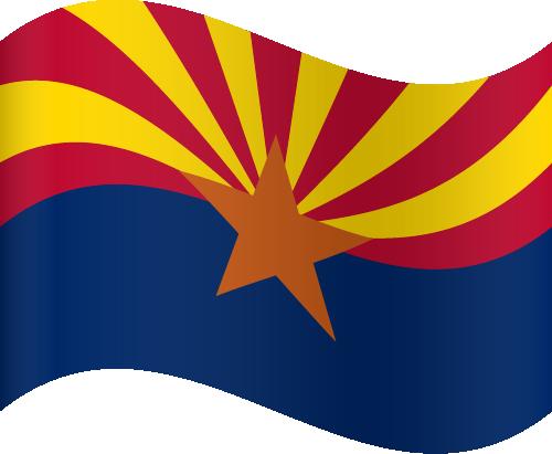 Vector flag of Arizona - Waving