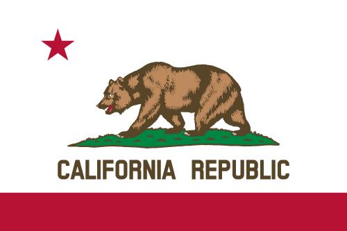 Vector flag of California