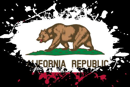 Vector flag of California - Ink Splat