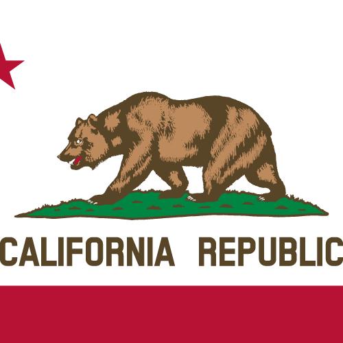 Vector flag of California - Square
