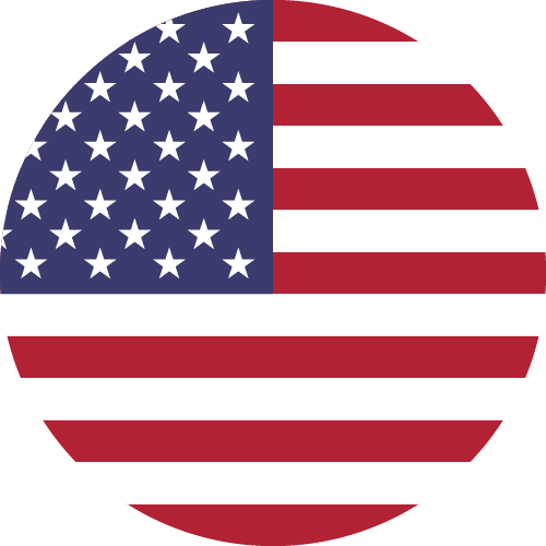 Vector flag of the United States of America - Circle