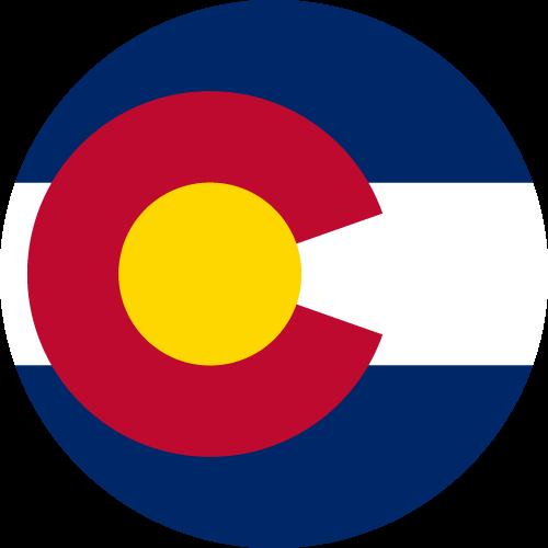 Vector flag of Colorado - Circle