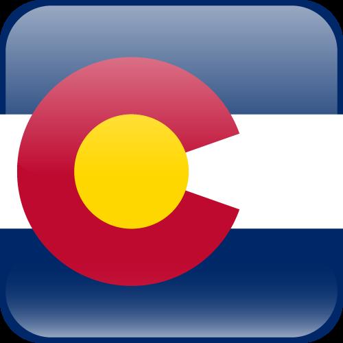 Vector flag of Colorado - Cube