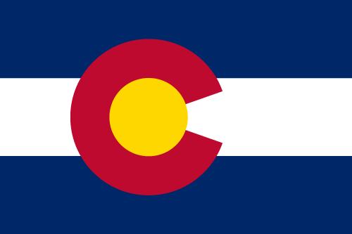 Vector flag of Colorado