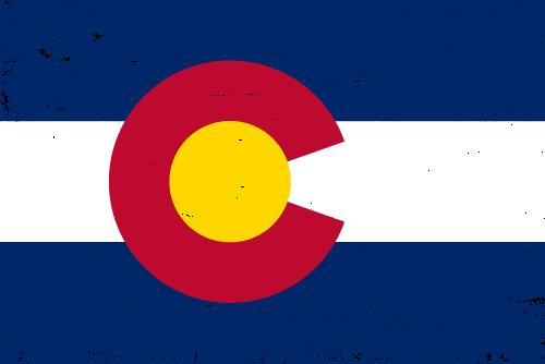 Vector flag of Colorado - Grunge