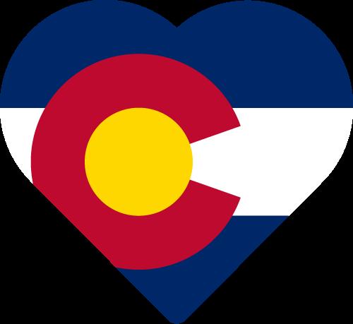 Vector flag of Colorado - Heart
