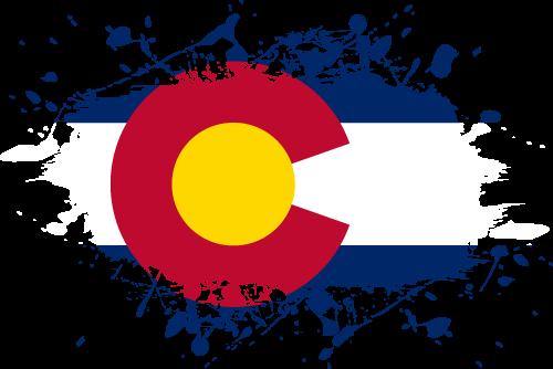 Vector flag of Colorado - Ink Splat