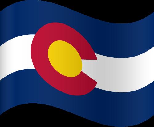 Vector flag of Colorado - Waving
