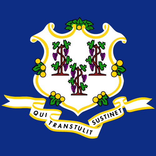 Vector flag of Connecticut - Square