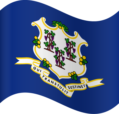 Vector flag of Connecticut - Waving