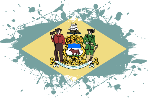 Vector flag of Delaware - Ink Splat