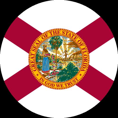 Vector flag of Florida - Circle