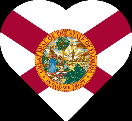 Vector flag of Florida - Heart