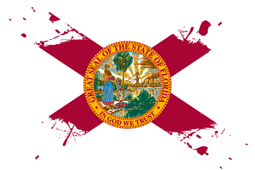 Vector flag of Florida - Ink Splat