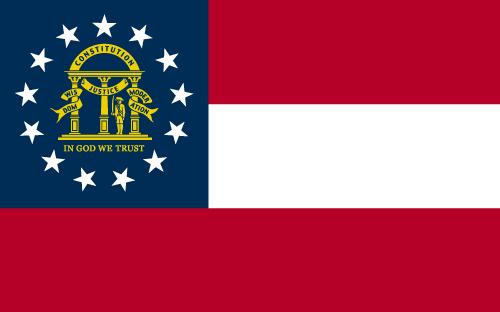 Vector flag of Georgia