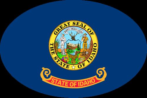 Vector flag of Idaho - Oval