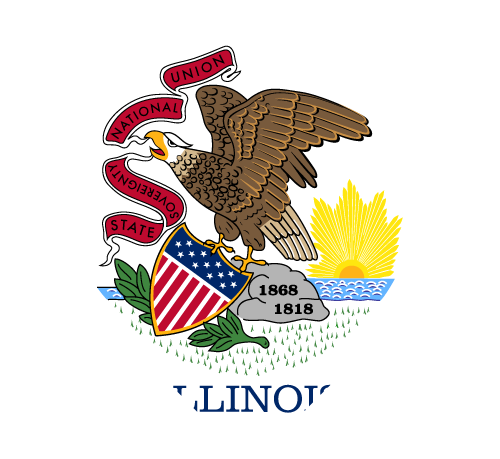 Vector flag of Illinois - Heart