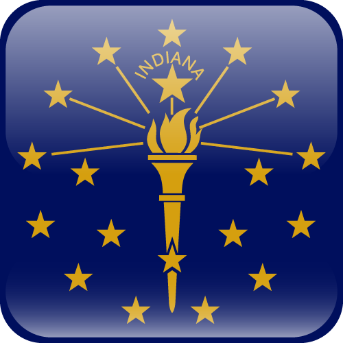 Vector flag of Indiana - Cube