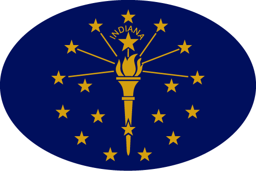 Vector flag of Indiana - Oval
