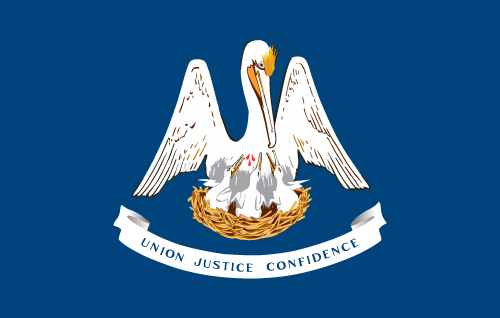 Vector flag of Louisiana
