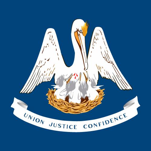 Vector flag of Louisiana - Square