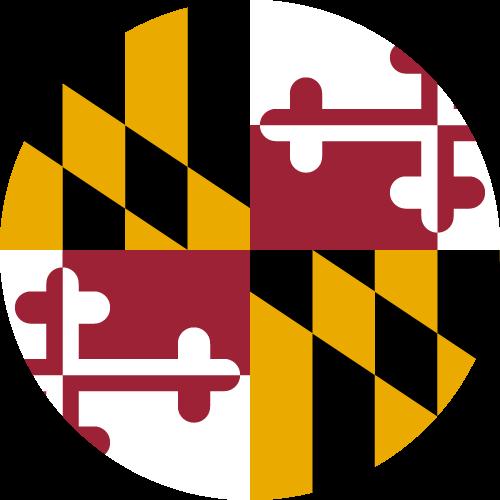 Vector flag of Maryland - Circle