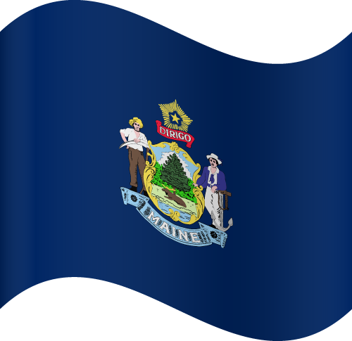 Vector flag of Maine - Waving