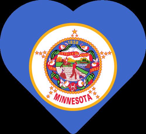 Vector flag of Minnesota - Heart