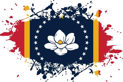 Vector flag of Mississippi - Ink Splat