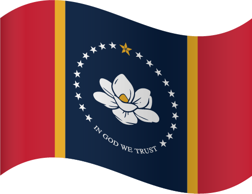 Vector flag of Mississippi - Waving