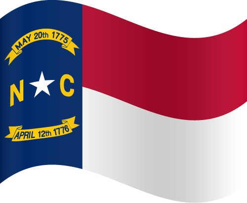 Vector flag of North Carolina - Waving