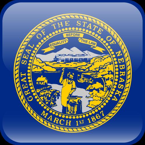 Vector flag of Nebraska - Cube