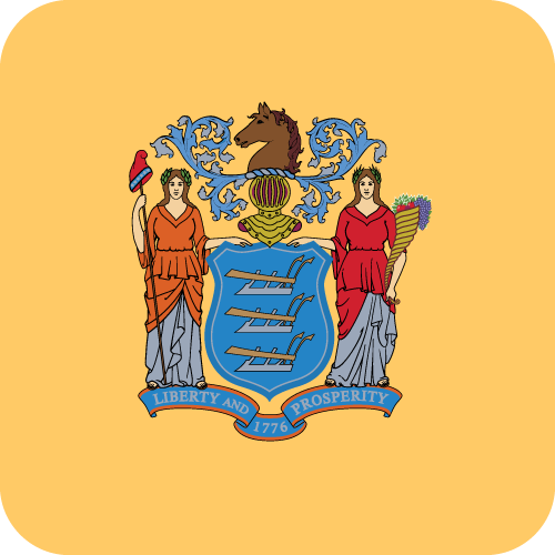 Vector flag of New Jersey - Button