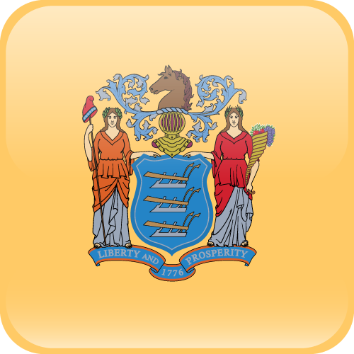 Vector flag of New Jersey - Cube