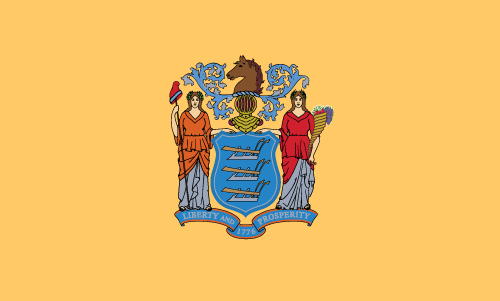 Vector flag of New Jersey
